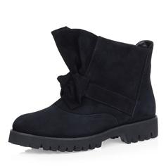 Черные ботинки с большим бантом Respect