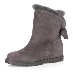 Ботинки Серые зимние ботинки из велюра Respect