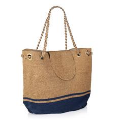 Сумки Бежево-синяя пляжная сумка Fabretti