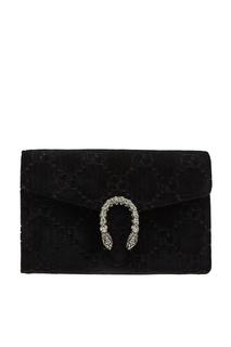 Бархатный клатч на цепочке Dionysus GG Gucci