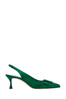 Зеленые туфли Dolores Manolo Blahnik