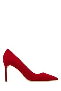 Красные замшевые туфли BB Manolo Blahnik