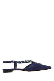 Темно-синие туфли Sibusflat Manolo Blahnik