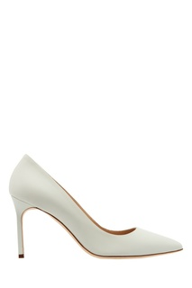 Белые туфли BB из кожи Manolo Blahnik