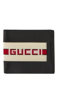 Кожаный кошелек с контрастной отделкой Gucci Man