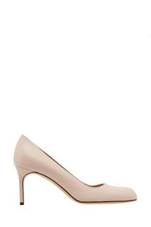 Розовые кожаные туфли BB Manolo Blahnik
