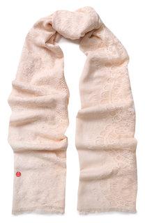 Палантин из смеси шерсти и шелка с кружевной отделкой Vintage Shades