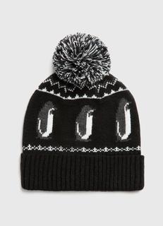 Шапка с узором «пингвины» Ostin