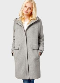 Шерстяное пальто с капюшоном Ostin