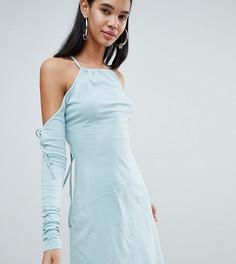 Асимметричное платье ограниченной серии Weekday - Кремовый