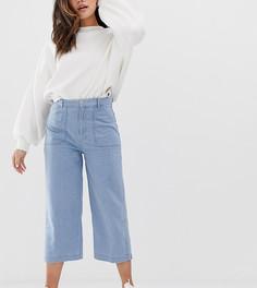 Синие джинсы широкого кроя Pull&Bear - Синий