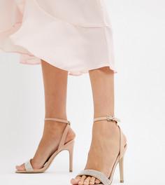Босоножки на каблуке New Look - Бежевый