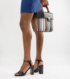 Лакированные босоножки на блочном каблуке New Look - Черный