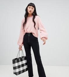 Расклешенные брюки с молнией Weekday - Черный
