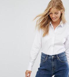 2a4542ecaa8f Белая рубашка с длинными рукавами New Look - Белый