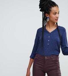 cd227d7df99 Темно-синяя блузка в горошек на пуговицах Esprit - Темно-синий