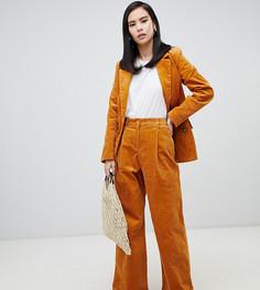 Широкие брюки горчичного цвета Monki - Желтый