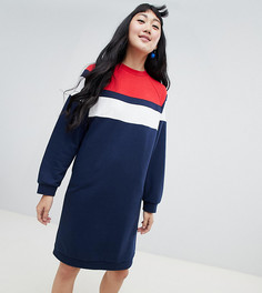 Темно-синее трикотажное платье Monki - Мульти