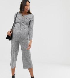 Серые кюлоты в рубчик New Look Maternity - Серый