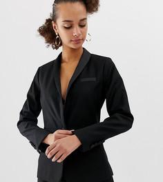 Черный блейзер под смокинг New Look - Черный