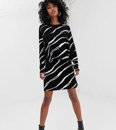 Трикотажный свитер с принтом зебра Weekday - Мульти