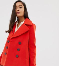 Красное двубортное пальто Miss Selfridge - Красный