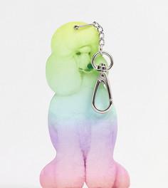 Зеркальный разноцветный брелок для ключей в виде пуделя Monki - Мульти
