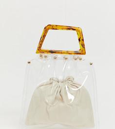 Прозрачная сумка с черепаховой ручкой PrettyLittleThing - Мульти