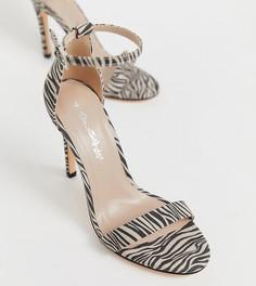 Легкие босоножки с принтом зебра Miss Selfridge - Мульти