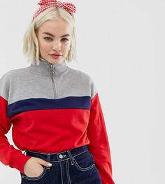 640401ed5a86 Красный свитшот с короткой молнией New Look - Красный