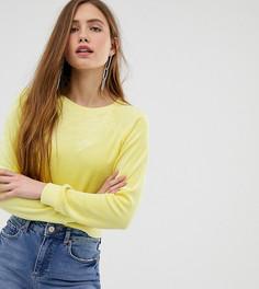 Желтый велюровый свитшот Miss Selfridge - Желтый