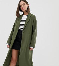 Легкое строгое пальто цвета хаки Monki - Зеленый