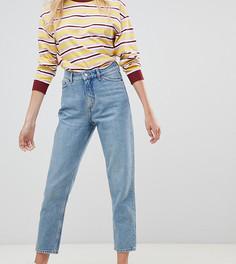 Голубые джинсы в винтажном стиле из органического хлопка с завышенной талией Monki Taiki - Синий