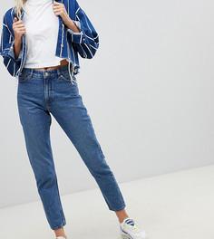 Джинсы в винтажном стиле с завышенной талией из органического хлопка Monki Kimomo - Синий