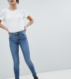 Синие узкие джинсы из органического хлопка с классической талией Monki Mocki - Синий