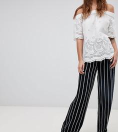 Широкие брюки в полоску Esprit - Темно-синий