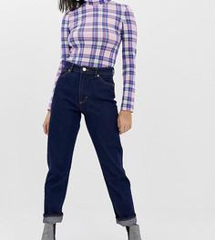 Темно-синие джинсы прямого кроя из органического хлопка с завышенной талией Monki Moluna - Синий