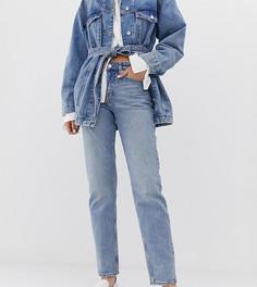 001c76bf0156 Голубые прямые джинсы Weekday bon - Синий