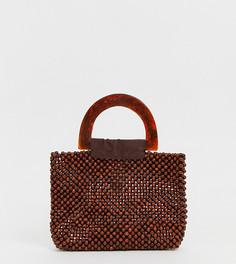 Коричневая миниатюрная сумка с полимерной ручкой PrettyLittleThing - Коричневый