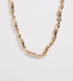 Золотистое ожерелье-цепочка с имитацией бамбука New Look - Золотой