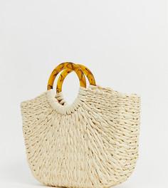 Бежевая плетеная сумка Pimkie - Бежевый