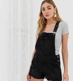 Черный джинсовый комбинезон New Look - Черный