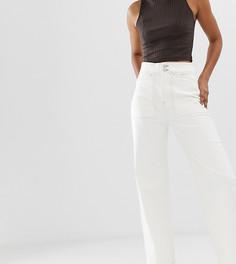 Белые джинсы в рабочем стиле с контрастной строчкой Weekday - Белый