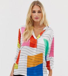 Белая блузка с абстрактным принтом Esprit - Мульти