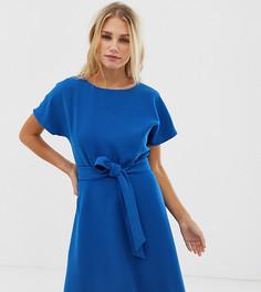 Синее платье А-силуэта с поясом Esprit - Синий