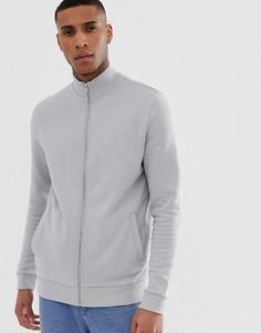 Серая трикотажная спортивная куртка ASOS DESIGN - Серый