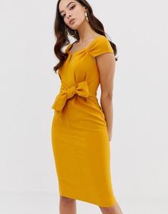Платье-футляр с присборенной талией Lipsy - Желтый