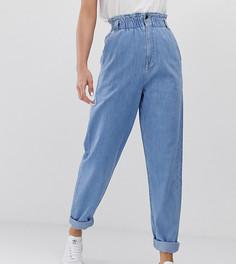 Мягкие светлые джинсы с эластичной присборенной талией ASOS DESIGN Tall - Синий