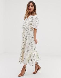 Платье миди с принтом Stevie May Estelle - Кремовый
