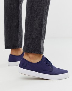 Темно-синие саржевые кроссовки Fred Perry Merton - Темно-синий